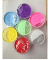 Wholesale Pink Whips - 100ml=40g box Soft butter slime form crystal soil squishy lab clear clay slime Whipped cream rubber mud