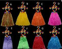 Wholesale Bra Decorations - Children day Halloween costume party grass skirt Hawaiian grass skirt wedding accessories floral dress bra 60CM