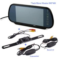 Wholesale Mirror Lcd Touch Screen - 7 Inch TFT LCD Car Mirror MP5 Car Reverse Rearview Touch Screen Monitor with Car Rear View Parking Camera