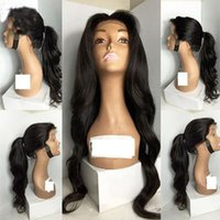 Glueless Brazilian Wavy Full Lace Frente Cabelo Humano Perucas Baby Hair Natural pode High Ponytails Part Anywhere