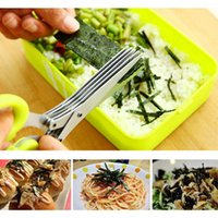 Wholesale Traditional Chinese Paper Cutting - Multifunctional kitchen stainless steel scissors multilayer spices green onion cut five cut Office paper shredder scissors