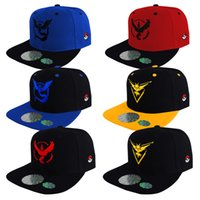 Wholesale Wholesale Adult Sneakers - Unisex Cartoon Poke Go Baseball Hat Costume Cosplay Pocket Monsters Adult Ball Caps Sneaker Hip Hop Basketball Pikachu baseball hats