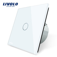 Wholesale Livolo White Switch - Livolo Luxury White Crystal Glass ,Wall Switch, Touch Switch, Normal 1 Gang 1 Way Switch, C701-11 2 5