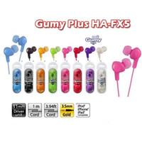 Wholesale Huawei Headphones - Gummy Earphones HA FX5 3.5mm MP3 Earphone No MIC Earbuds Colorful for iphone 6s plus iPod Xiaomi Samsung Huawei HTC Headphones