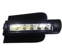 luzes led grelha verde venda por atacado-LED DRL Para Toyota Land cruiser prado 120 LC120 FJ120 2003 ~ 2009 luzes diurnas com luz-off função