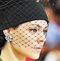 Wholesale Crochet Models - 2016 Show models women Beanie Fashion Net yarn veil cap Tight Knitted warm Hat Retro Winter crochet Wool cap