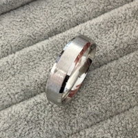 Wholesale Finger Price - Classic Silver tone wide 6mm men engagement rings 316L tungsten steel finger rings for men wholesale price USA size 6-14