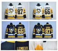 Wholesale Lemieux Jerseys - 2017-2018 Season 87 Sidney Crosby 66 Mario Lemieux Evgeni Malkin 81 Phil Kessel 30 Matt Murray Guentzel Pittsburgh Penguins Hockey Jerseys