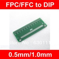 Wholesale Ffc Socket - Wholesale-100PCS FPC FFC turn DIP 50P 0.5 1.0MM Pitch IC adapter Socket   Adapter plate PCB for TFT LCD