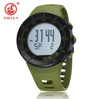 Wholesale Cool Electronic Led Watch - New in 2017 wholesale OHSEN electronic Led diving sport watch men male green army cool wristwatches relojoes hombre Man Horloge gift