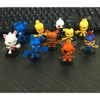 Wholesale Duck Teddy Cartoons - 10pcs set 6cm Five Nights at Freddy's Action Figure Cartoon Collection Toy Teddy Bears Foxes Duck Rabbit