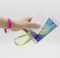 Novo Hot Portable Cheap Wristband Micro USB Cable Carregando Data Sync Line para Android Cell Phone