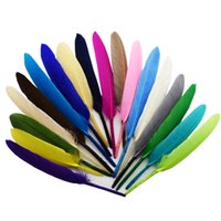 Wholesale Feather Hair Dye - 480pcs lot 9-14cm 3.5-5.5inches Natural Mallard Duck Wing Dyed Feathers DIY Hair Accessories Wedding Party Supplies Clothing Decoration IF55
