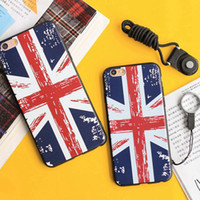 Wholesale British Flag Iphone Cases - Retro British flag Silicone Soft Phone Case For Apple iphone 6s Plus Iphone 6 + 4.7 5.5 in Cover Shock Protects