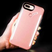 embalajes para celulares al por mayor-Para iphone X 8 Plus Luminous 3 Generation LED Cell Phone Case Fotografía LED Fill Light Selfile Mobile Phone Shell Cover Paquete al por menor