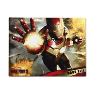 Wholesale Gaming Cool Pad - E-3lue computer game E-3lue E-Blue Cool Iron Man 3 Gaming Mouse Pad Three Kinds to Choose 2016 fresh