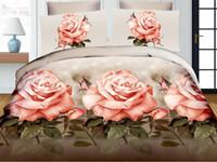 ingrosso set biancheria da letto di progettazione 3d-Di alta qualità 4 pz cotone Designers 3d stampa reattiva set di biancheria da letto consolatore / copripiumini letto cheet federa biancheria da letto biancheria da letto