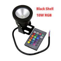Wholesale Black Pool Lights - Small Order Black Cover RGB IP68 Waterproof LED Pool Light 10W Underwater Light Swimming Pool Led for Fountain