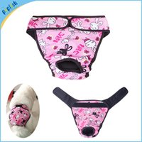 Wholesale Dog Clothing Sanitary - Velcor Closure Dog Sanitary Physiological Pants Underwear Clothes Small Large Breeds Adjustable Size Dog Diaper Female Washable