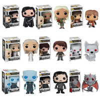 Wholesale Big Plastic Dolls - Funko Pop Figures Game Of Thrones Jon Snow Action Figure Great Quality In Stock game of thrones Anime Doll ornaments