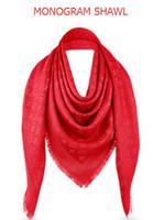 Wholesale brown gradient scarves online - light gray L Brand Check Wool Cotton Cashmere Silk Scarves Scarf Wrap Shawl Pashmina x140cm