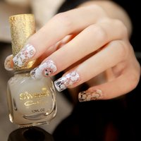Wholesale 16 Nail Sticker - New foreign trade sales Nail polish stickers white lace Decals Nail Art Stickers Decals Manicure 16styles 16 nails stick 4160