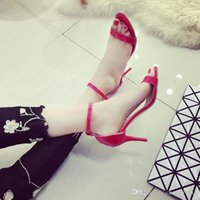 Wholesale White Fish Head High Heels - 2016 Korean version of the new summer high heels thin heels waterproof sandals fish head women's shoes, free shipping