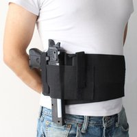Wholesale Elastic Gun - High Quality Left Right hand Tactical Adjustable Elastic Belly Waist Band Pistol Gun Holster