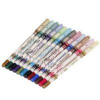Wholesale-12 Farbe maquiagem Glitter Wasserdicht Lip liner Lidschatten Eyeliner Bleistift Stift Make-Up Set # 82366