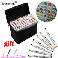 Wholesale Graphics Artists - Touchfive 80 colors Dual Head markers pen sketch Drawing Animation Copic Markers Set For Artist Manga Graphic Based