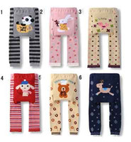 Wholesale Infant Baby Modeling - Toddler PP Pants 2016 new baby infant Animal cartoon modeling knitted warmer leggings 11 group style PP trousers