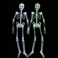 Compra Luci Del Partito Verde-32Cm Halloween Ghost Day Scene Impostazione Prank Props Luci notturne Bianco Verde Colourful Skeleton Halloween Party Supplies