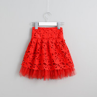 Wholesale Cotton Skirt Winter - Hug Me Girls Tutu Skirts Kids Christmas 2017 Summer Korean Fashion Sequins Bow Lace Flowers Princess Bling Skirts AA-757