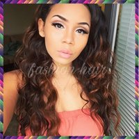 Wholesale Wavy Light Auburn Wig - 7A Virgin Malaysian Hair Wigs Wavy Color #4 Glueless Lace Front Human Hair Wigs Full Lace Wigs For Black Women