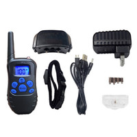 Wholesale remote shock collars - Pet Training Collars 300M Ultrasonic Remote Anti Barking Dog Leashes With LCD Dispaly Electric Shock Vibration Puppy Tool 50mc BC