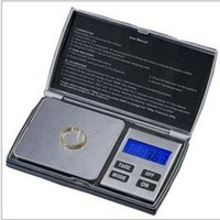 Wholesale Diamond Shape Gems - 1KG 0.1Mini Notebook Shape Kitchen Scale Portable LCD Digital Jewelry Scales Lab Diamond Gem Balance Weight Precision 1000g