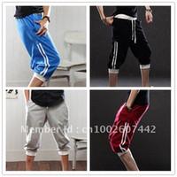 Wholesale Korean Men S Shorts - Wholesale-NEW Men's Korean Fashion Hot Casual Sporty Athletic Pirate Capri Baggy Harem Shorts Short Pants Sport Pants Free Shipping