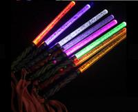 disco çubuğu toptan satış-Toptan 4 renk Akrilik kabarcık flaş sopa kızdırma sopa LED Işık sopa Floresan Disko Parti Düğün Noel Hediyesi için Sticks