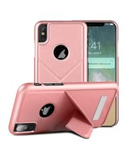 Wholesale Interesting Iphone Cases - Interest variant fold holder cell phone case PU leather PC hybird shockproof Anti-knock for iphone X