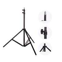 Wholesale Photo Flash Light Reflector - Wholesale- Photo 2M(79in) Light Stand Tripod With 1 4 Screw Head For Photo Studio Softbox Video Flash Umbrellas Reflector Lighting