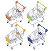Wholesale Fashion Shopping Cart - Fashion Mini Supermarket Hand Trolleys Mini Shopping Cart Desktop Decoration Storage Phone Holder Baby Toy