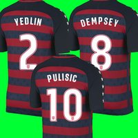 Wholesale Cheap National Team Soccer Jerseys - Cheap thailand quality USA National team Gold cup soccer jerseys 17 18 Dempsey jersey 2017 2018 United States DONOVAN BRADLEY PULISIC shirt