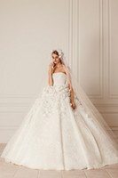 Wholesale plus size ball gowns wedding dresses for sale - Vintage Flower Wedding Dresses Fashionable Sexy Backless Sleeveless Princess Dresses Custom Strapless Bridal Gown Plus Size