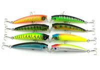 Wholesale Bait Minnows Sale - HENGJIA 50pcs hot sale Minnow fishing Lures 9.5CM 7.3G 6#hooks Hard bait Stick bait BREAM TROUT QUALITY FISH