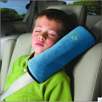 Wholesale Cotton Auto Seat Covers - Kids Children Safety Auto Car Seat Cover Belt Pad Neck Pillow Cushion Headrest Harness Shoulder Head Protection Support Sleeping