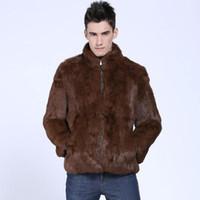 kürk yakalı uzun ceket erkek toptan satış-Erkekler Siyah Kahverengi Faux Kürk Ceket Ince Kış Elbise Ceket Resmi İş Dış Giyim Uzun Kollu Standı Yaka Zip Bezelye Ceket