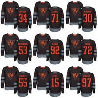Wholesale 34 cup - Men's 2016 World Cup North America Jersey 34 A M 97 C M 15 Jack Eichel Larkin Matt Murray Hockey Jerseys