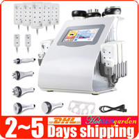 Wholesale Bipolar Rf Skin Care - Radio Frequency Tripolar RF Skin Care Vacuum 40K Cavitation Bipolar Lipo Laser Slimming Weight Loss Beauty Machine