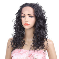 Wholesale synthetic wigs online - Lace front wigs synthetic hair wigs Curly style inch Black Ombre color women Fashion wigs hot sale