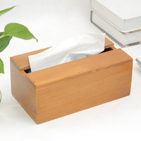 Wholesale waterproof paper holder - Wood Tissue Box Napkin Storage Box Waterproof Toilet Paper Holder Large Cartons Towel Rack Broader Tissue Boxes